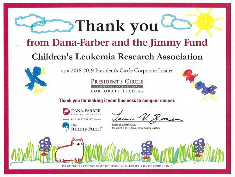 Thank you - Dana-Farber and the Jimmy Fund